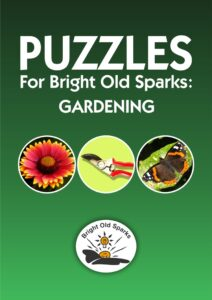 Book cover for Puzzles for Bright Old Sparks: Gardening